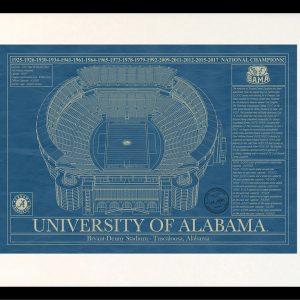 Products archive stadium blueprint company alabama bryant denny stadium blueprint art malvernweather Choice Image