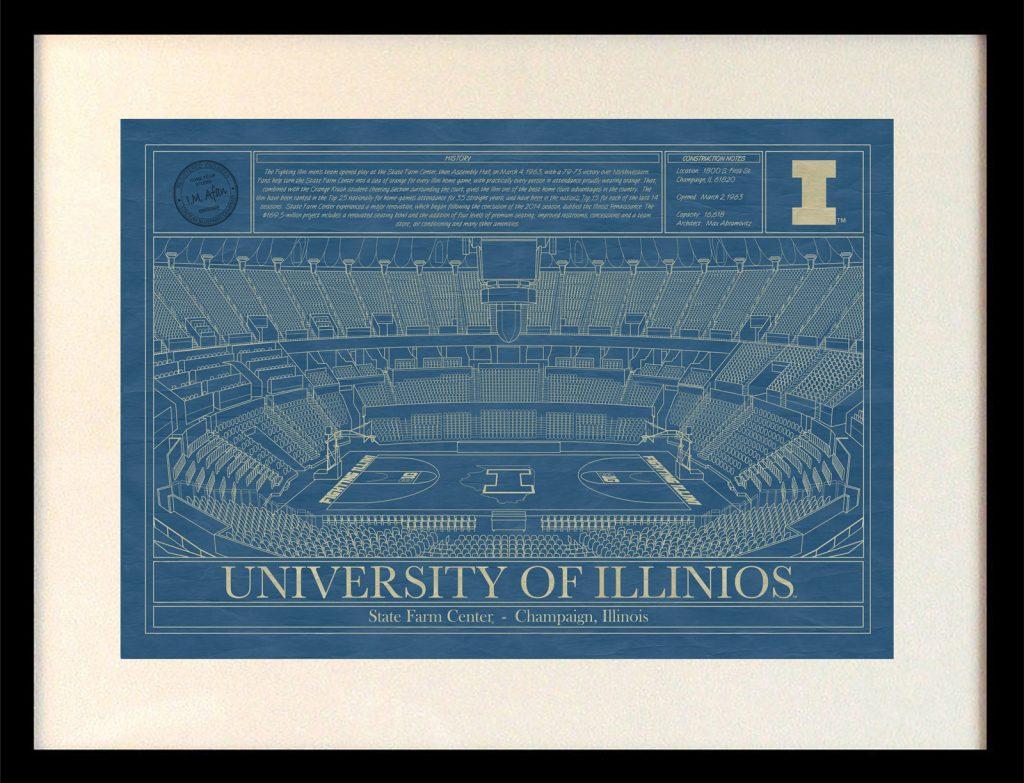 Illinois state farm center blueprint art stadium blueprint company university of illinois state farm center blueprint malvernweather Choice Image