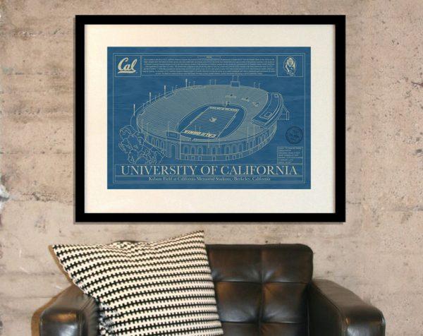 University of California - Berkeley - California Memorial Stadium Blueprint