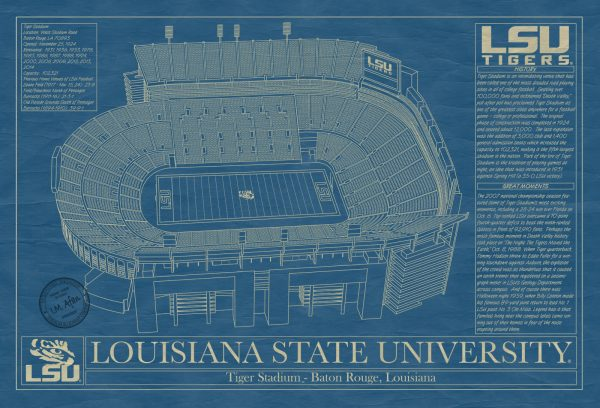 Louisiana State University - Tiger Stadium Blueprint