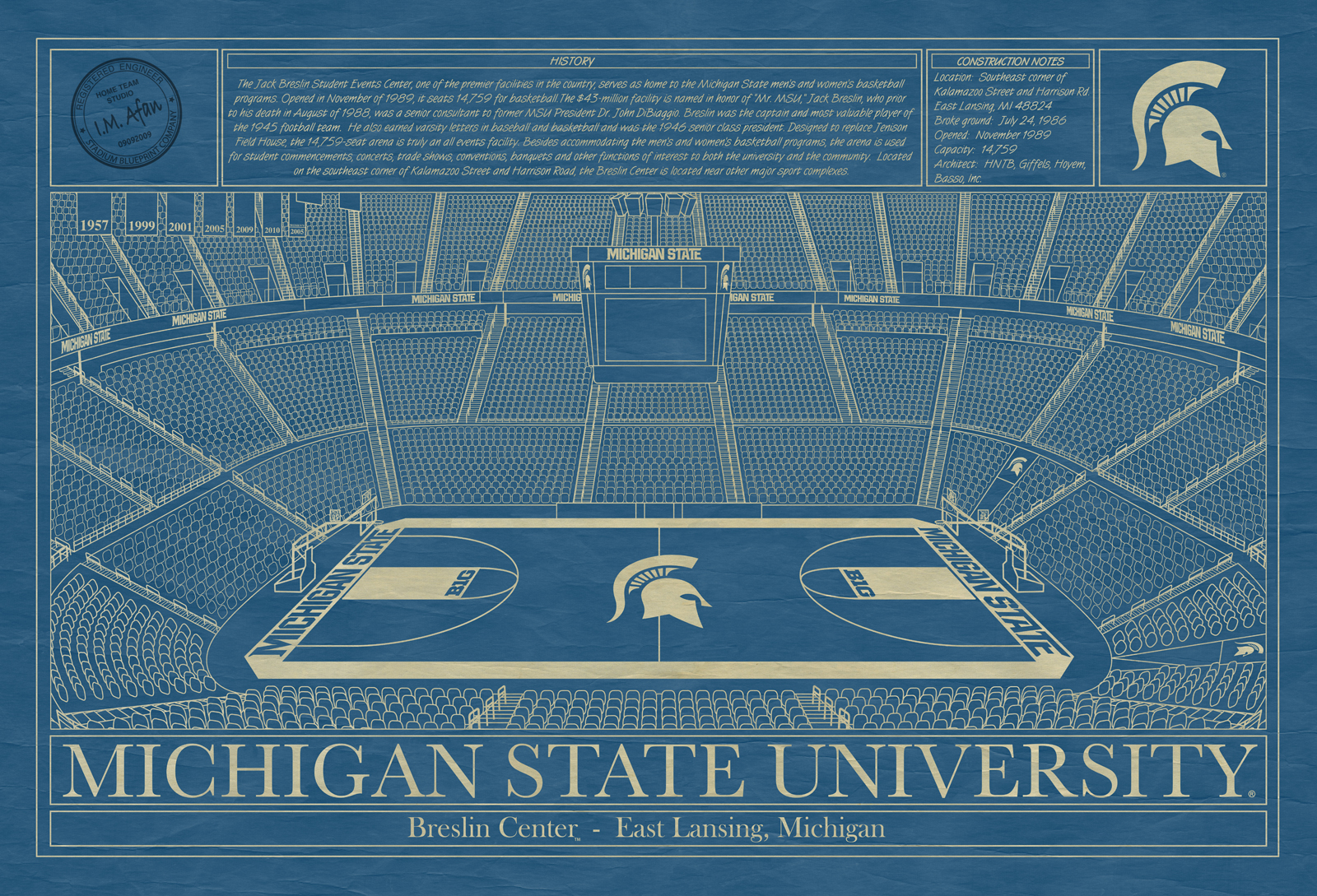 Michigan state university breslin student events center stadium michigan state university breslin student events center blueprint malvernweather Images