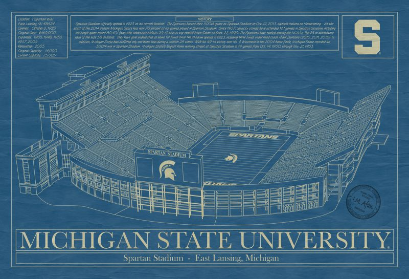 Michigan State University - Spartan Stadium Blueprint