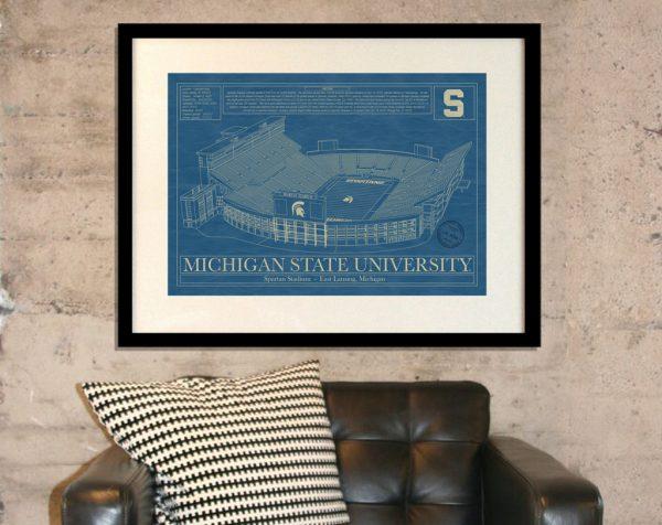 Michigan State University - Spartan Stadium Blueprint