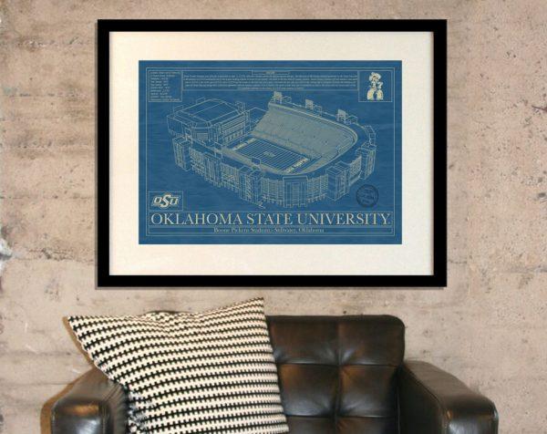 Oklahoma State University - Boone Pickens Stadium Blueprint