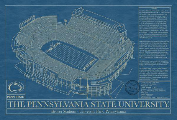 Penn State University - Beaver Stadium Blueprint