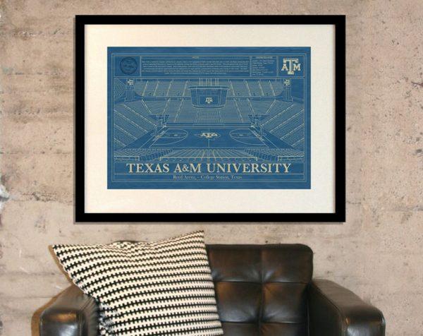Texas A&M University - Reed Arena Blueprint