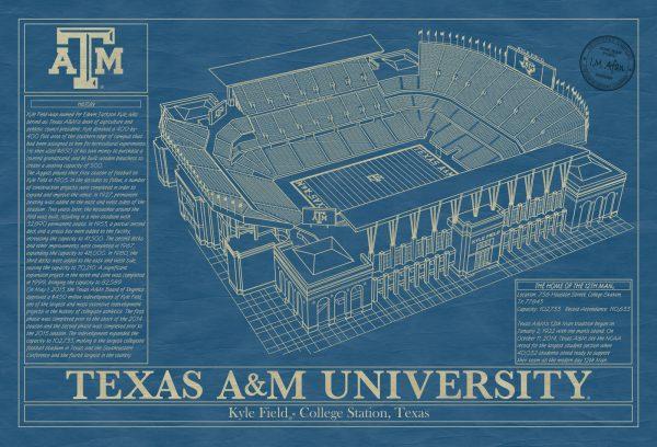 Texas A&M University - Kyle Field Blueprint
