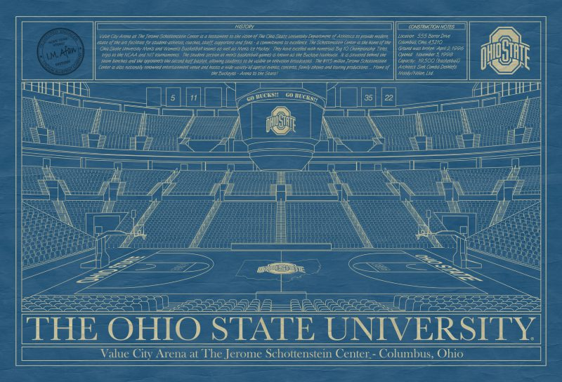 The Ohio State University - Value City Arena at the Jerome Schottenstein Center Blueprint