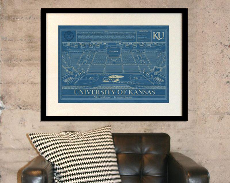 University of Kansas - Allen Fieldhouse Blueprint