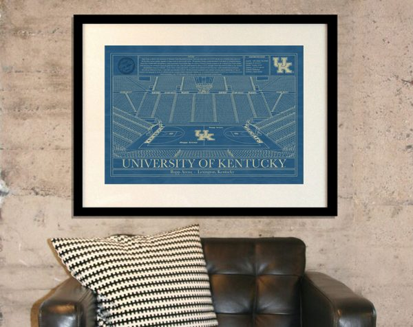 University of Kentucky - Rupp Arena Blueprint