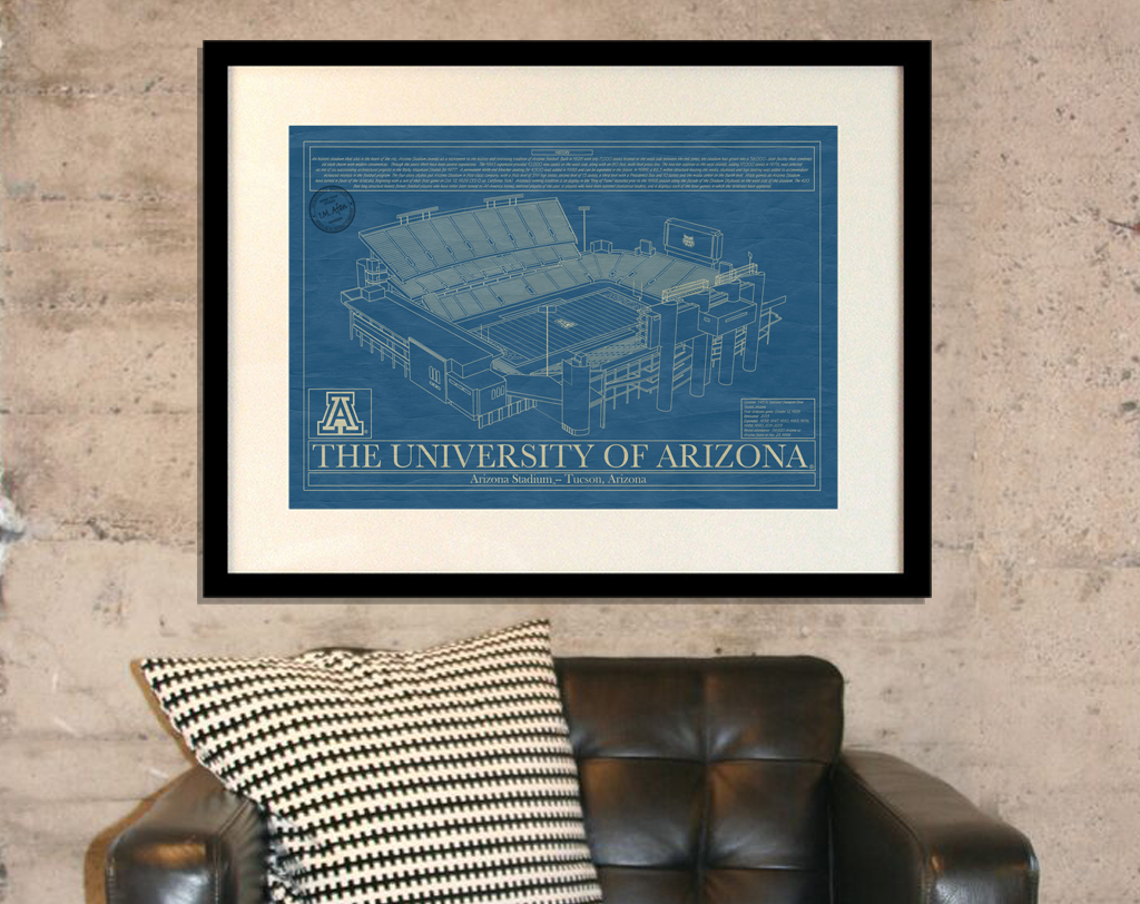 Arizona arizona stadium blueprint art stadium blueprint company university of arizona arizona stadium blueprint malvernweather Choice Image