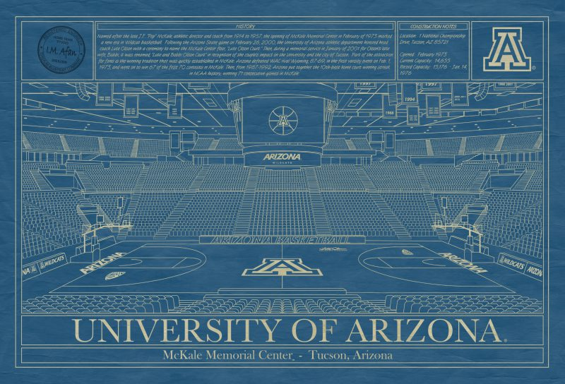 University of Arizona - McKale Center Blueprint