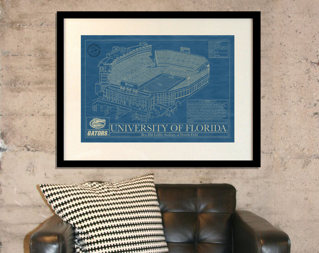 University of Florida - Ben Hill Griffin Stadium Blueprint
