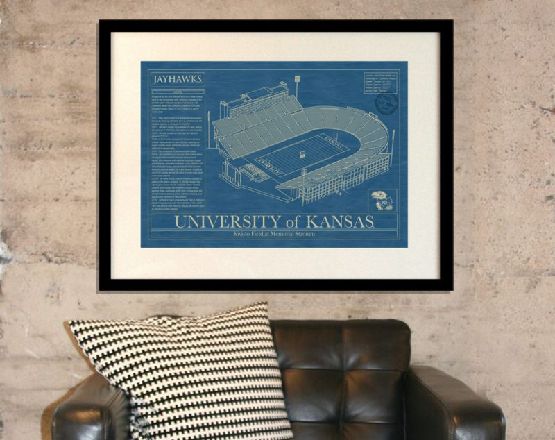 University of Kansas - Allen Fieldhouse Blueprint