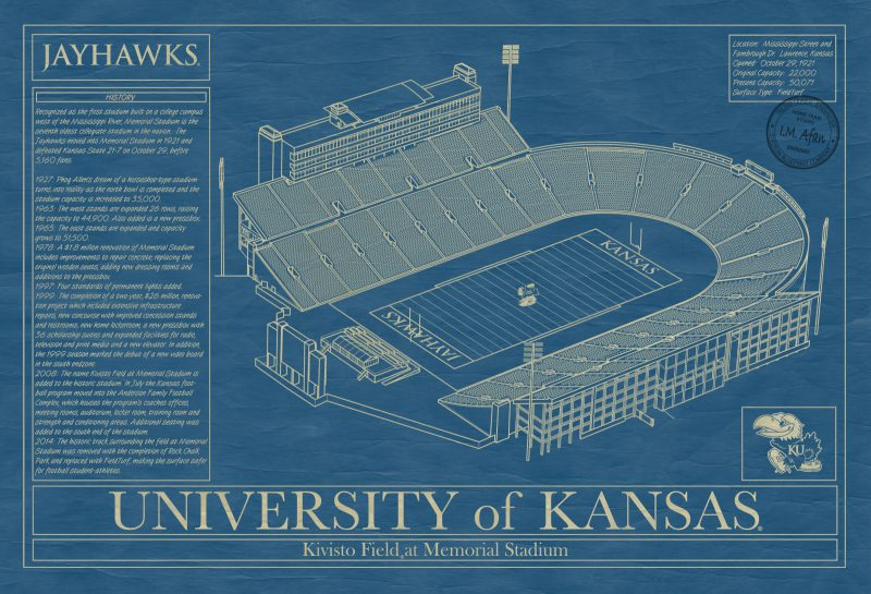 University of Kansas - Memorial Stadium Blueprint