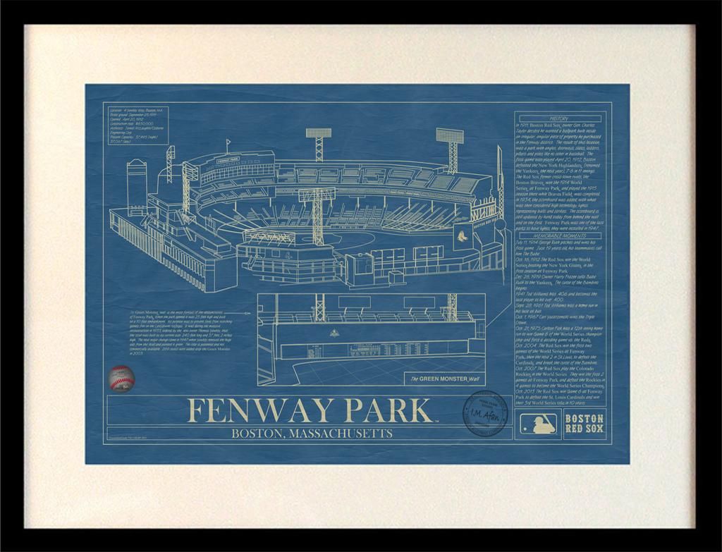 Major League Baseball Blueprints Stadium Blueprint Company