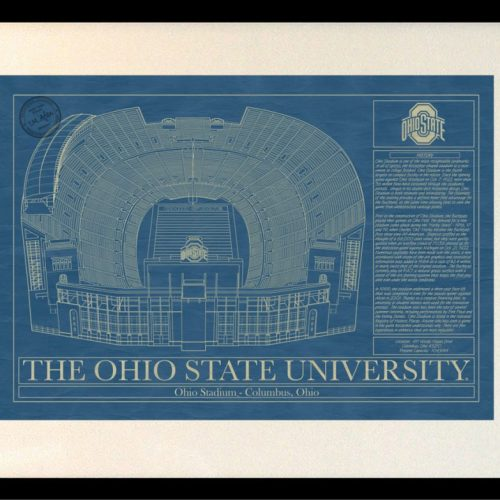 Oklahoma state university boone pickens stadium blueprint art ohio state university ohio stadium blueprint art malvernweather Images