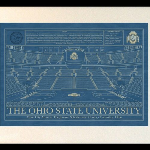 Miami wastco center blueprint art stadium blueprint company ohio state university value city arena at the jerome schottenstein center blueprint art malvernweather Choice Image
