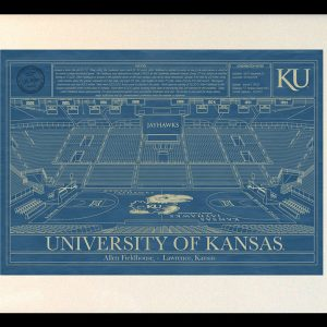 University of kansas archives stadium blueprint company kansas allen fieldhouse blueprint art malvernweather Images