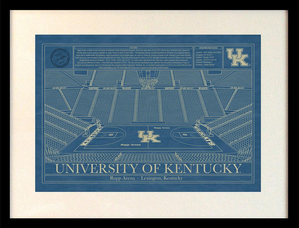 Kentucky rupp arena blueprint art stadium blueprint company university of kentucky rupp arena blueprint malvernweather Choice Image