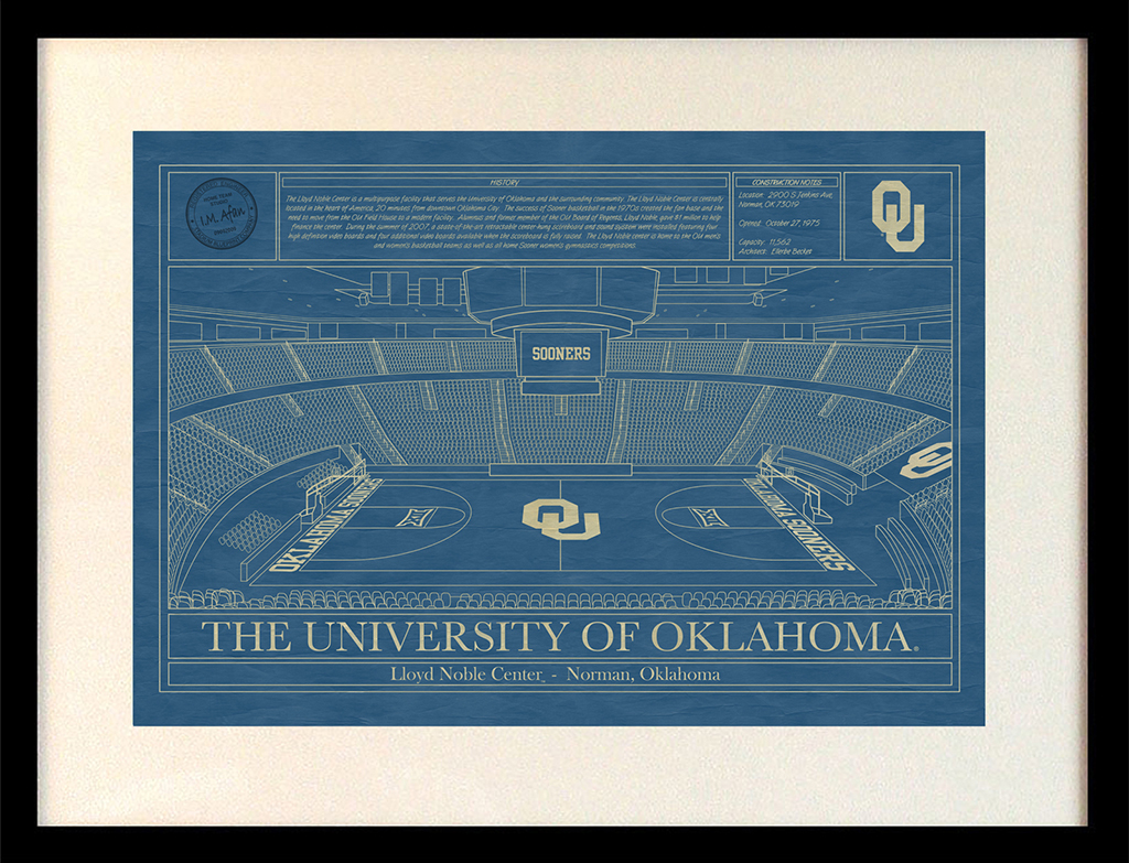 Oklahoma lloyd noble center blueprint art stadium blueprint university of oklahoma lloyd noble center blueprint malvernweather Image collections