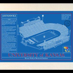 University of kansas archives stadium blueprint company kansas memorial stadium in school colors malvernweather Choice Image