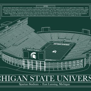 Michigan state university spartan stadium in school colors michigan state university spartan stadium in school colors stadium blueprint company malvernweather Gallery