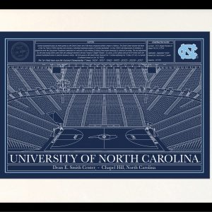 University of north carolina archives stadium blueprint company north carolina dean smith center in school colors malvernweather Images