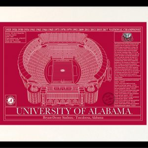 Products archive stadium blueprint company alabama bryant denny stadium in school colors malvernweather Image collections