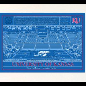 University of kansas archives stadium blueprint company kansas allen fieldhouse in school colors malvernweather Choice Image