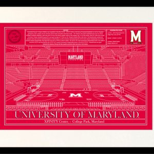 Maryland xfinity center college park in school colors stadium maryland xfinity center college park in school colors stadium blueprint company malvernweather Gallery