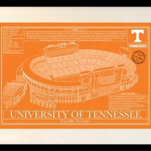 University of tennessee archives stadium blueprint company tennessee neyland stadium in school colors malvernweather Gallery