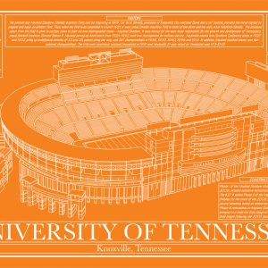 Tennessee neyland stadium in school colors stadium blueprint tennessee neyland stadium in school colors stadium blueprint company malvernweather Gallery