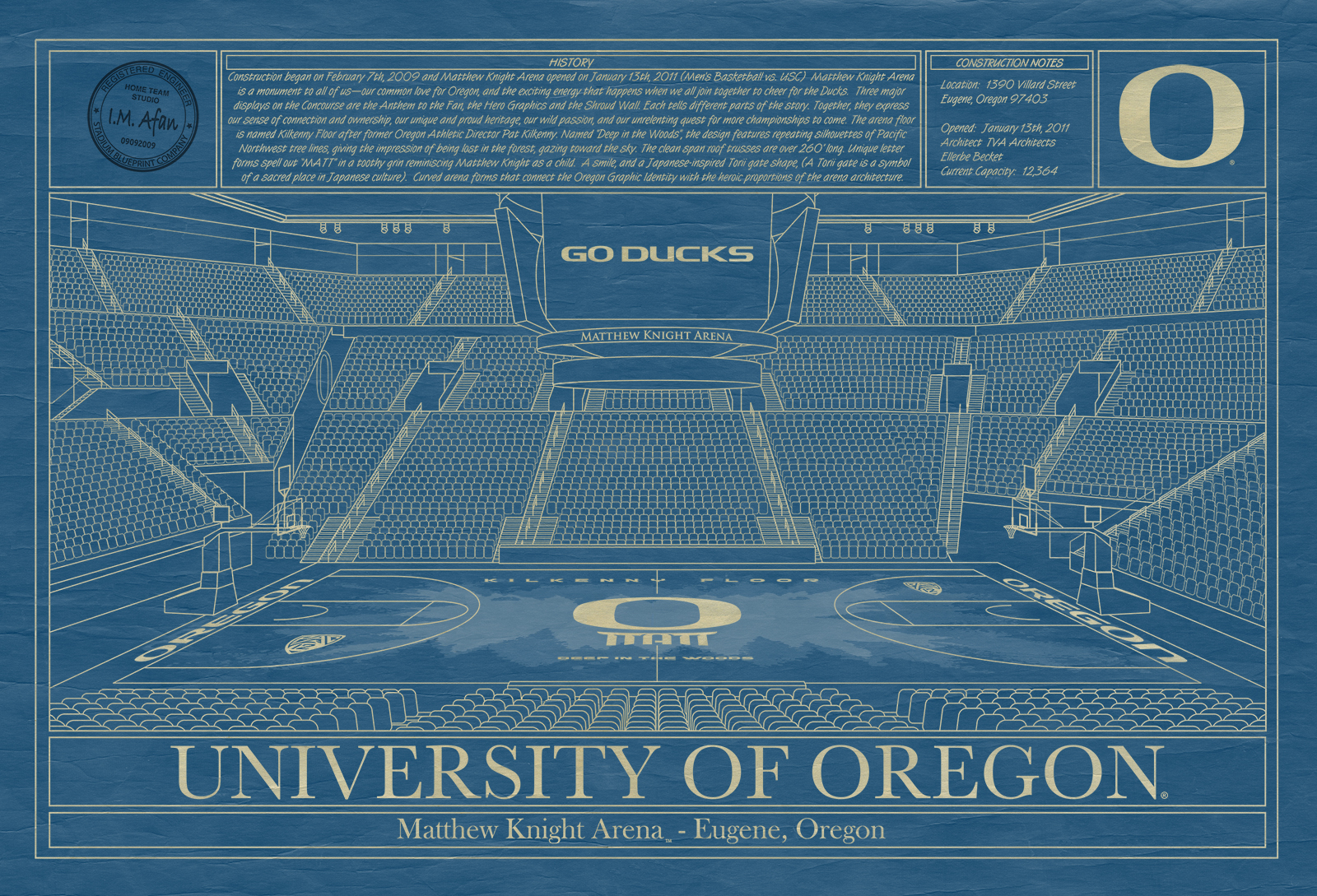 Oregon matthew knight arena blueprint art stadium blueprint oregon matthew knight arena blueprint art malvernweather Gallery