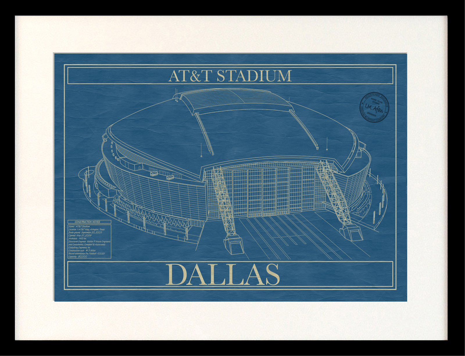 Dallas att stadium stadium blueprint company dallas att stadium malvernweather Choice Image
