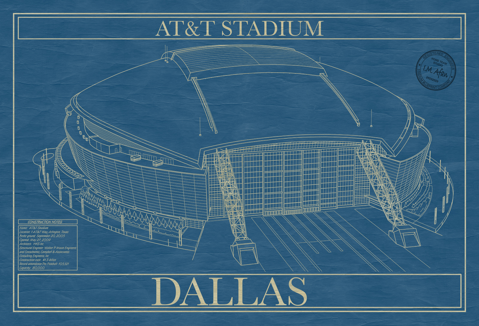 Dallas att stadium stadium blueprint company dallas att stadium malvernweather Image collections