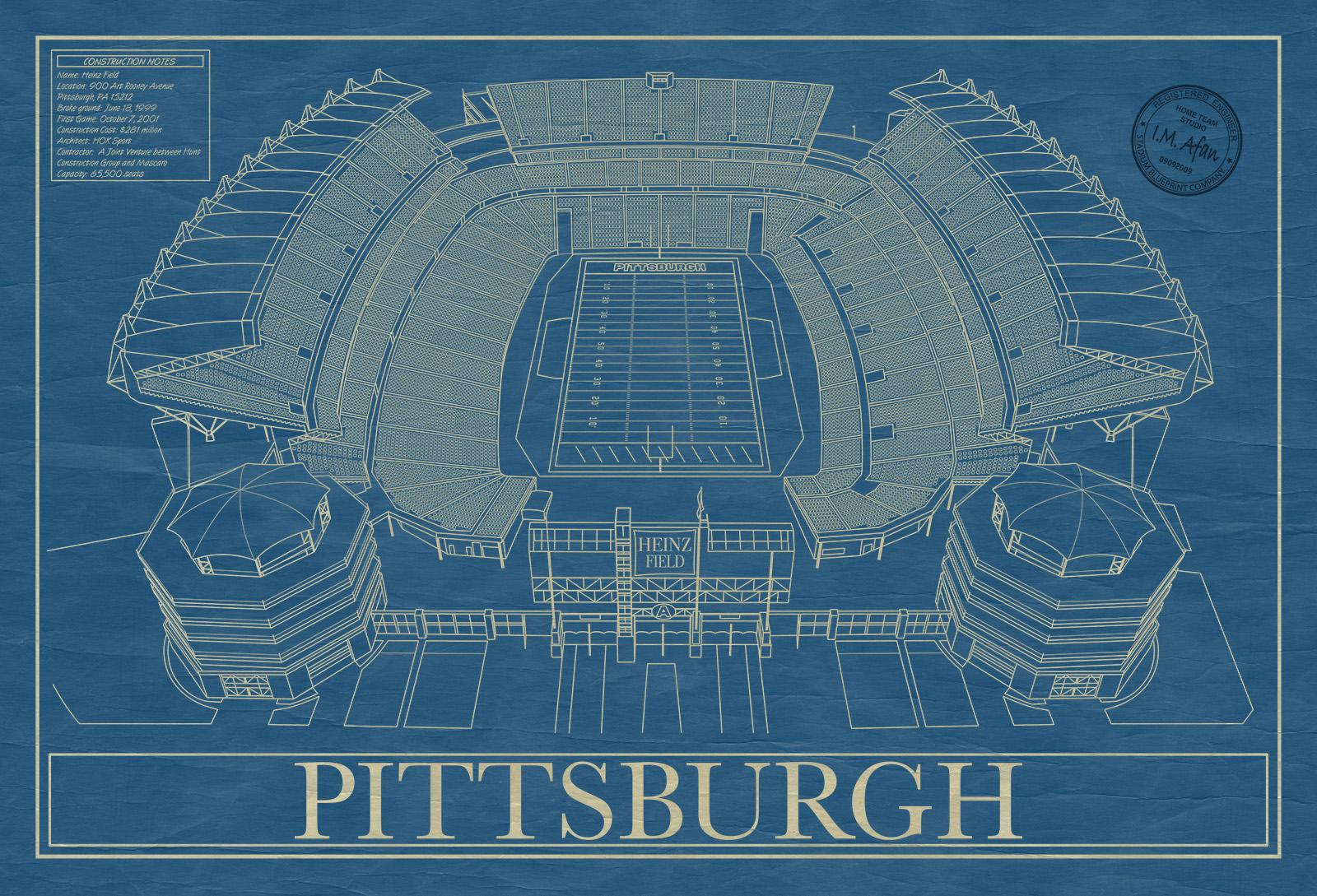Pittsburgh heinz field stadium blueprint company pittsburgh heinz field malvernweather Images