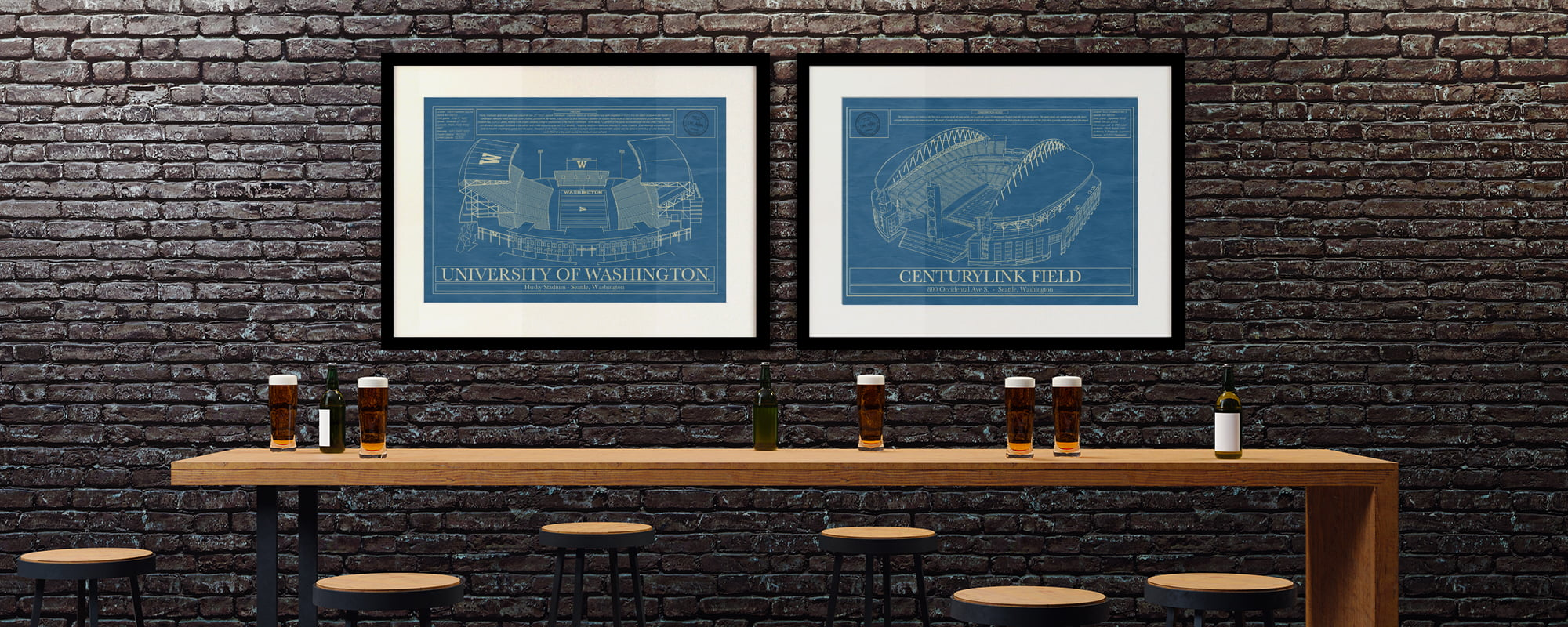 The art prints make an excellent gift for any sports lover